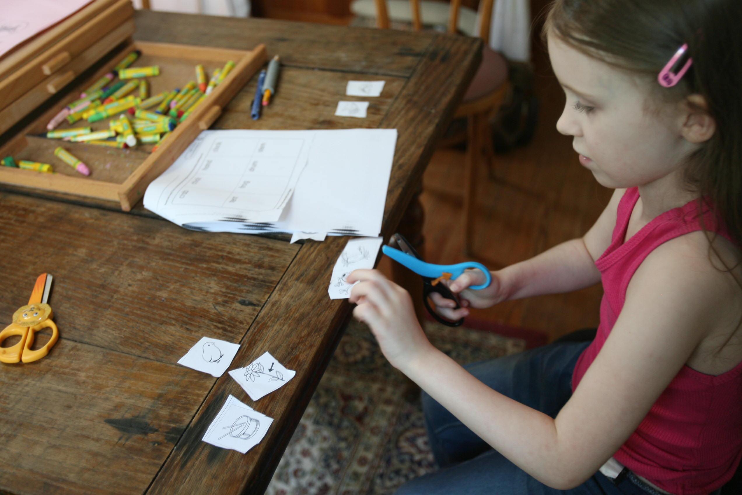 Scissor Skills and the Multiplication Board